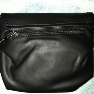 Bags - Black Tuck & Loop Soft Crossbody Purse Bag